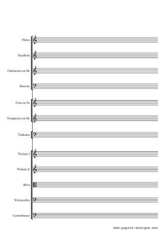 Papier musique orchestre classique