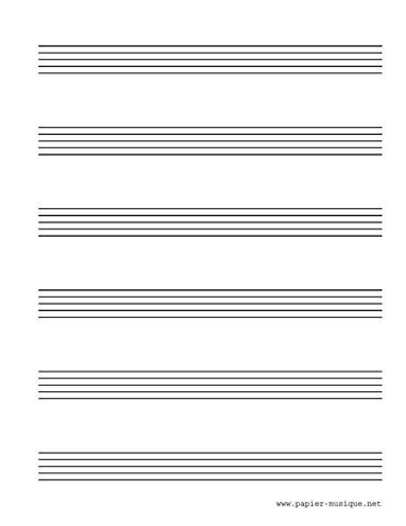 6 Portées musicales