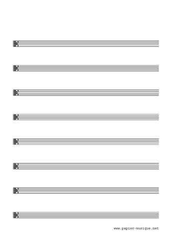 8 Portées musicales, clé d'Ut 3