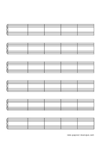 30 mesures pour piano solo 6 portées