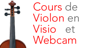 Cours de violon en visio-conférence